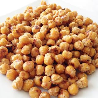 Garlicky Parmesan & Rosemary Roasted Chickpeas.