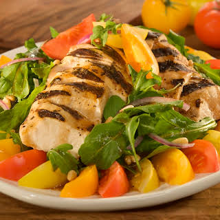 Tri-colored Tomato Salad With Balsamic Chicken .