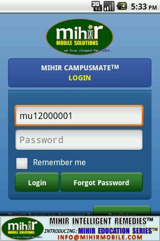 Mihir CampusMate™ - screenshot