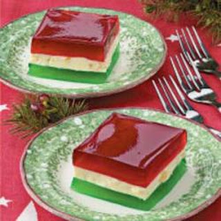 Holiday Ribbon Gelatin.