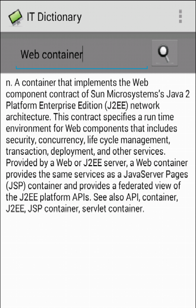 IT & Computer Dictionary - screenshot