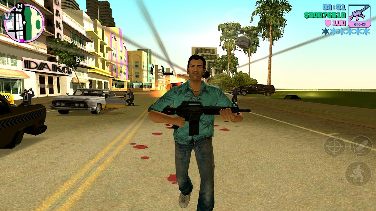 یاری بۆ ئه‌ندرۆید Grand Theft Auto Vice City V 1.0.6 Apk  GTA VC