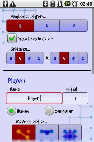 Dots 'n' Boxes / Squares - screenshot