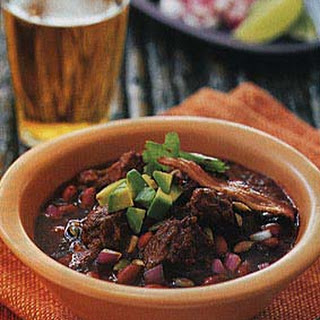 Spicy Red Pork and Bean Chili.