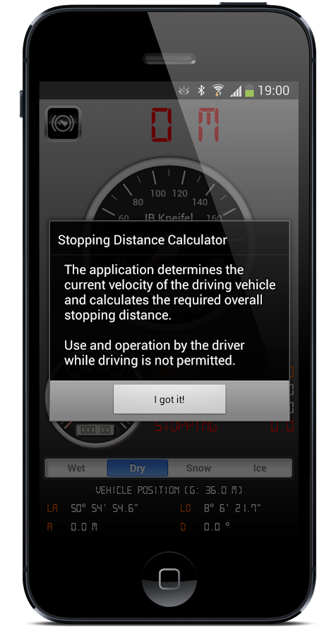 Stopping Distance Calculator- screenshot