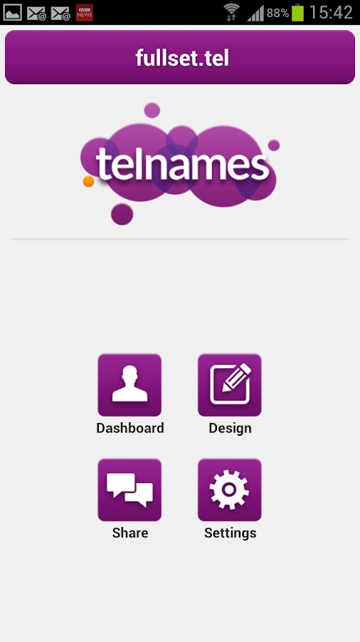 Telnames Mobile Site Builder- screenshot