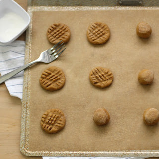 Oat Flour Peanut Butter Cookie.