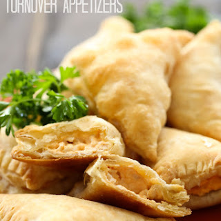 Buffalo Chicken Turnover Appetizers.