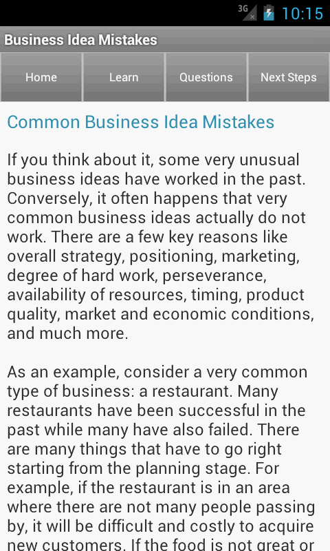 Entrepreneur business ideas android apps on google play for Entrepreneur idee