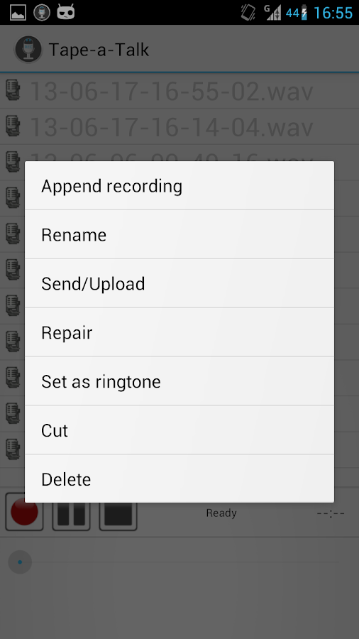 Tape-a-Talk Voice Recorder - screenshot
