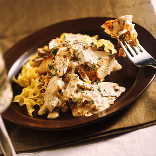 Smothered Chicken in Mushroom Ragout