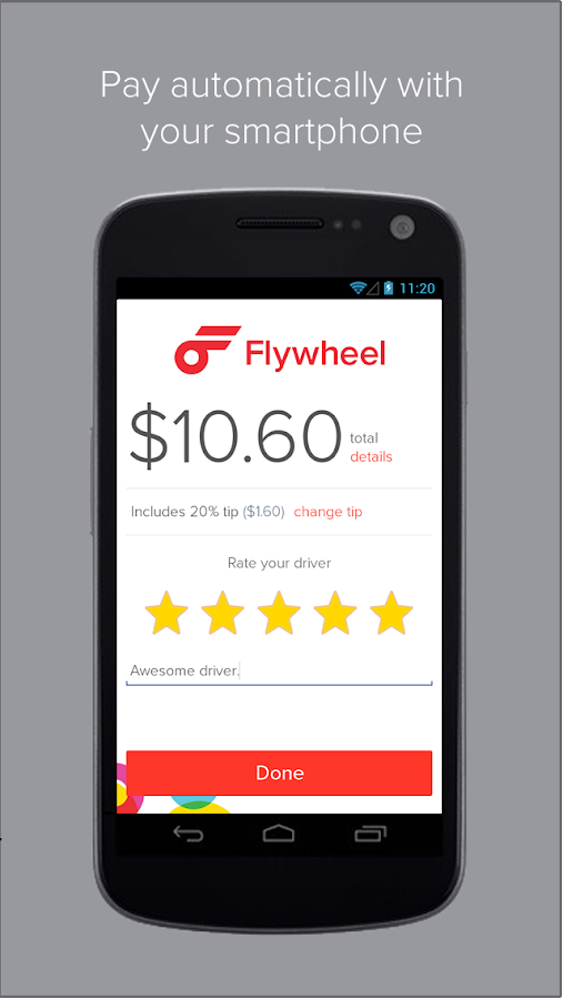 Flywheel - The Taxi App- screenshot