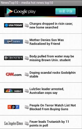 News Top10 - media hot top10