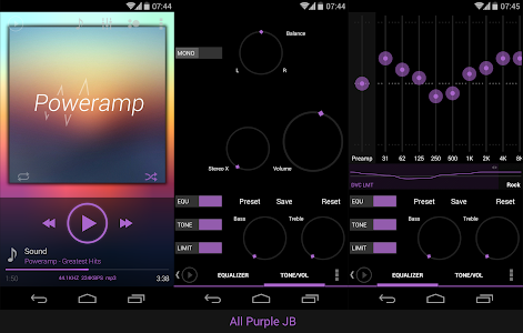 Poweramp skin KK/JB/ICS Purple v1.3.2