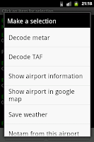 Screenshot of Aviation Weather with Decoder
