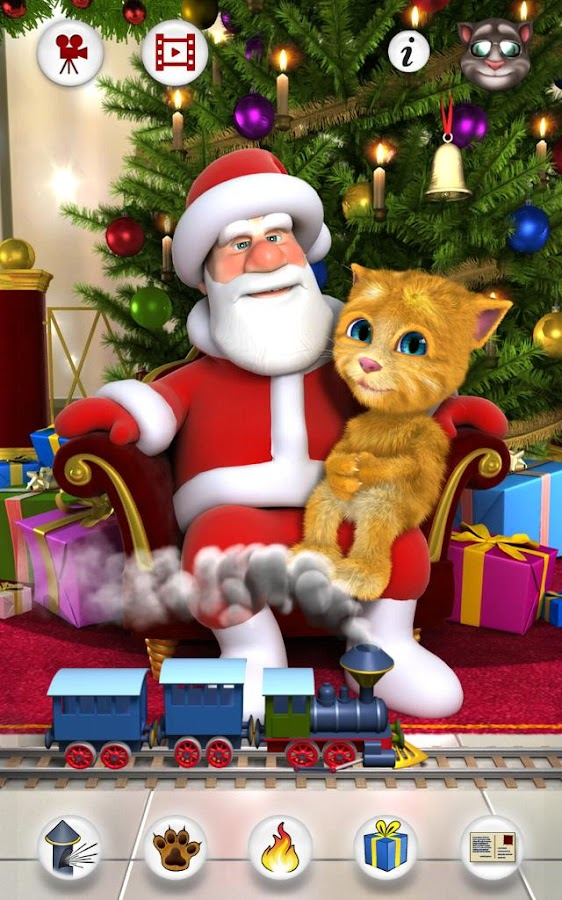 Talking Santa meets Ginger- screenshot