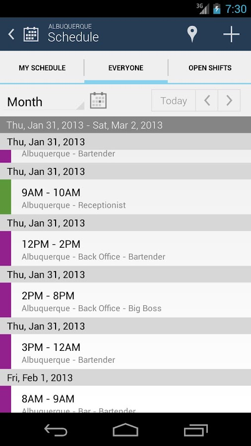 NimbleSchedule - screenshot