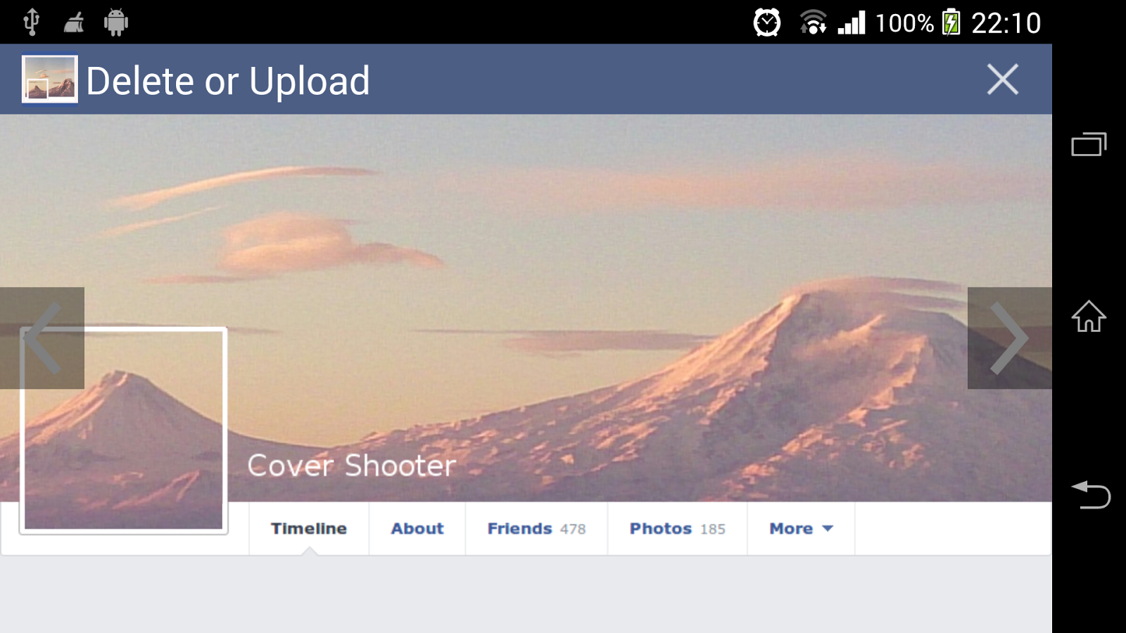 Cover Camera for FB - screenshot