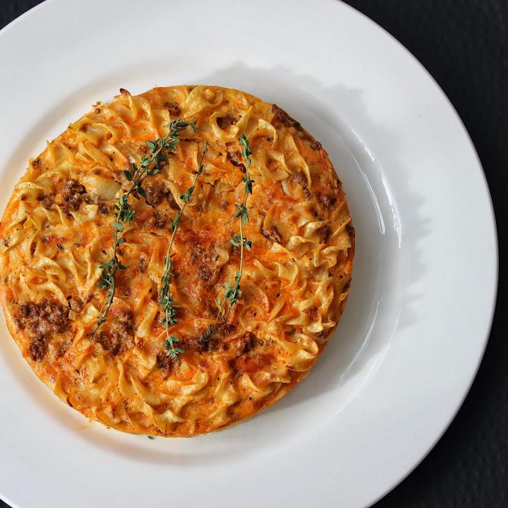 Chorizo Noodle Frittata Recipe