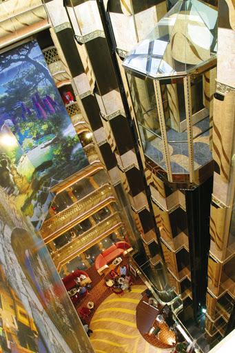 Costa-Magica-atrium - A bird's-eye view of Costa Magica's atrium.