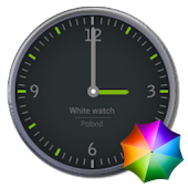 Grey and Green Clock Widget