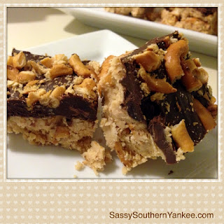Sassy's No-Bake Sweet & Salty Peanut Butter Bars.