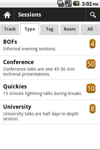Jfokus Scheduler- screenshot