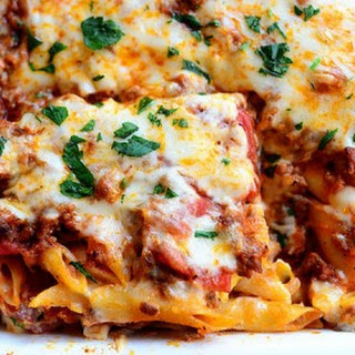 Baked Ziti With Ricotta Cheese And Meat Recipes.