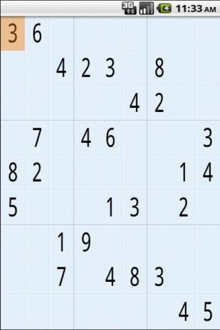 Sudoku- screenshot