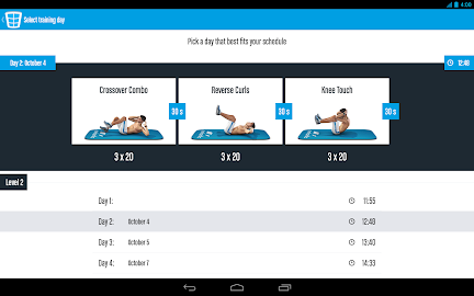 Runtastic Six Pack Abs Workout Screenshot 23