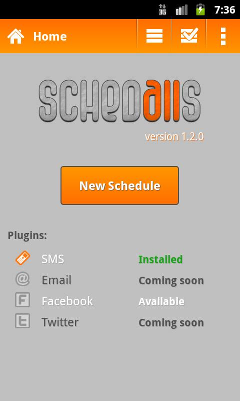 Schedalls - screenshot