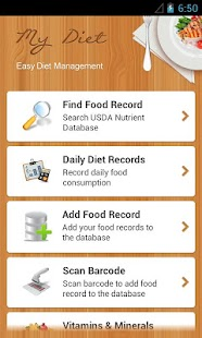 Diet Calories Vitamins Counter - screenshot thumbnail