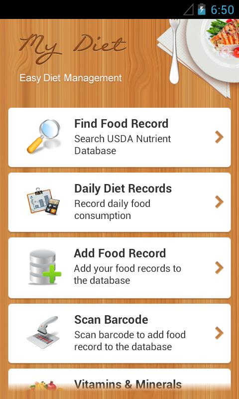 Diet Calories Vitamins Counter- screenshot