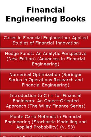 Financial Engineering Books