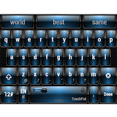 Dusk Blue TouchPal Theme Skin