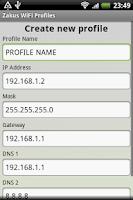 Screenshot of Zakus WiFi Profiles