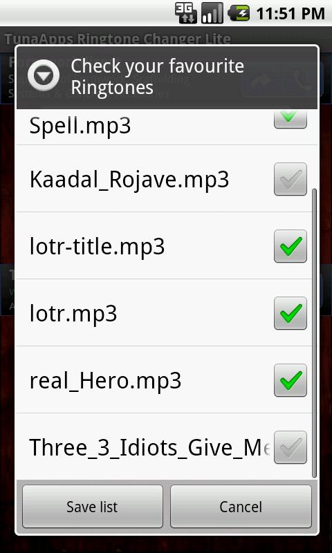 TA Ringtone Changer - screenshot