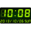 LED clock widget -Me Clock icon