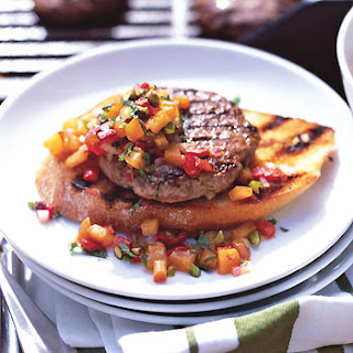 Open-Face Lamb Burgers with Pistachio-Apricot Relish