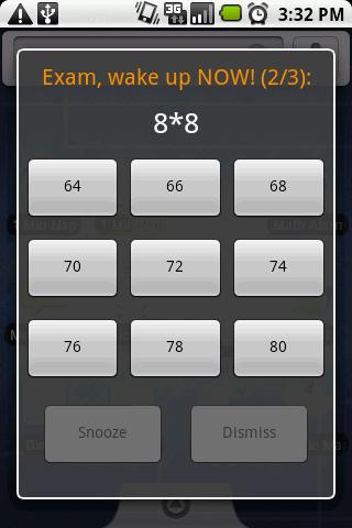 Math Alarm Clock - screenshot