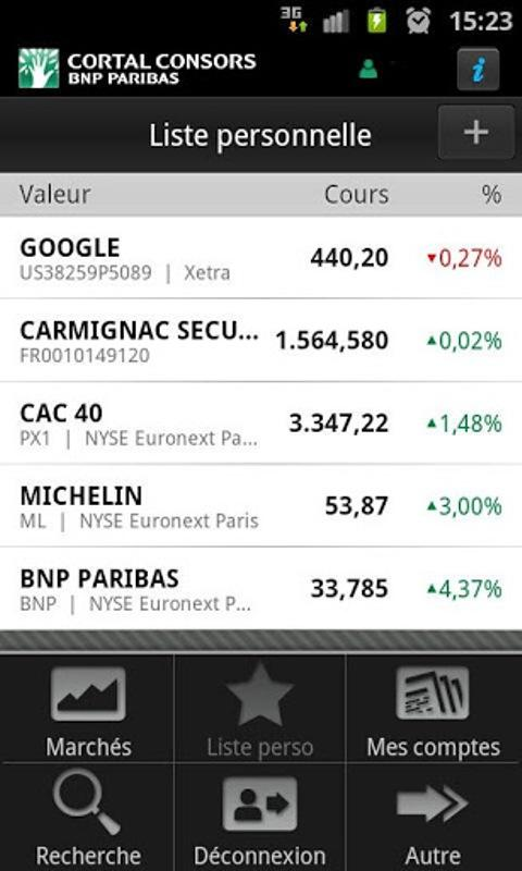 L'AppliBourse - screenshot