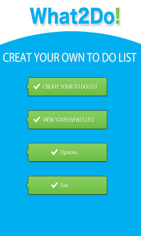 What2Do - To do list - screenshot