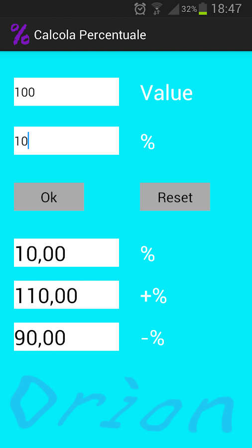 Percentage Calculator- screenshot