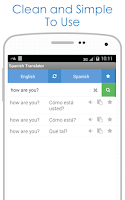Screenshot of Spanish Translator