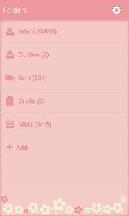 FlowerLove Theme GO SMS - screenshot thumbnail
