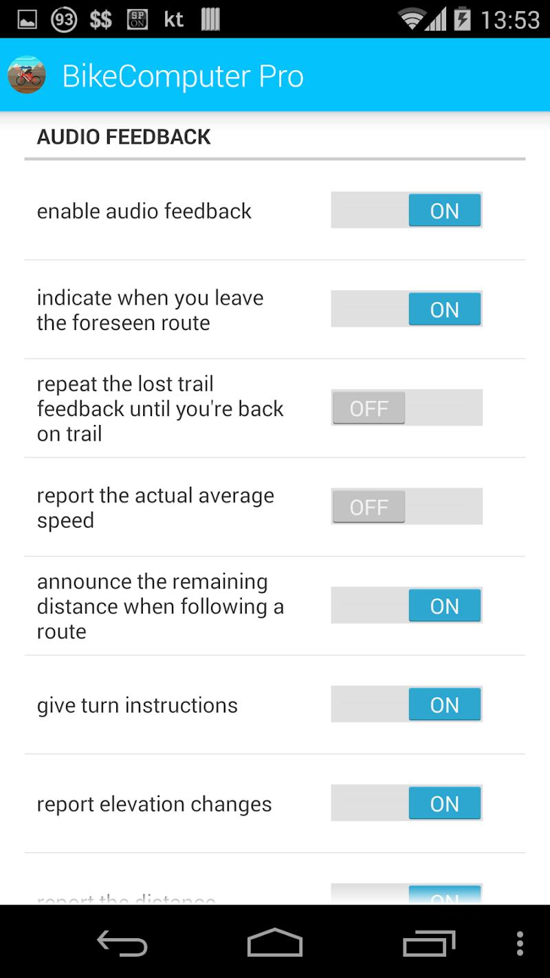 BikeComputer Pro Screenshot 3