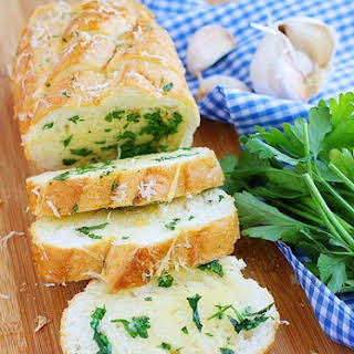 Parmesan Herb Garlic Bread.