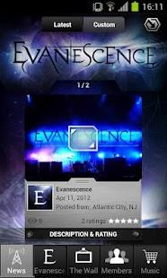 Evanescence: Mobile Backstage - screenshot thumbnail