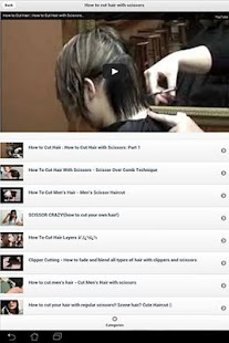 How to cut hair with videos - screenshot thumbnail