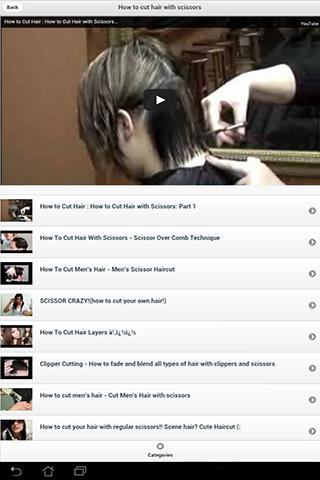 How to cut hair with videos - screenshot